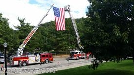 Tower Ladder 2 and Truck 55