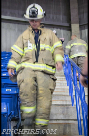 Asst. Chief Milgram taking part in the stair climb
