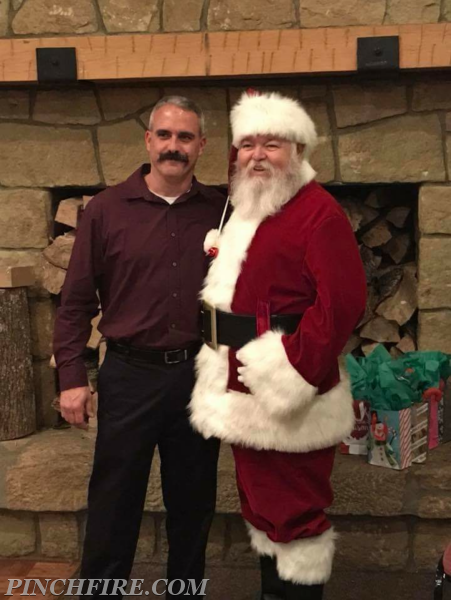 Chief Wagoner and Santa