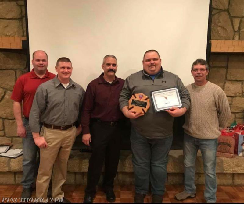 Jason Anderson Receiving his Lifetime Member Award